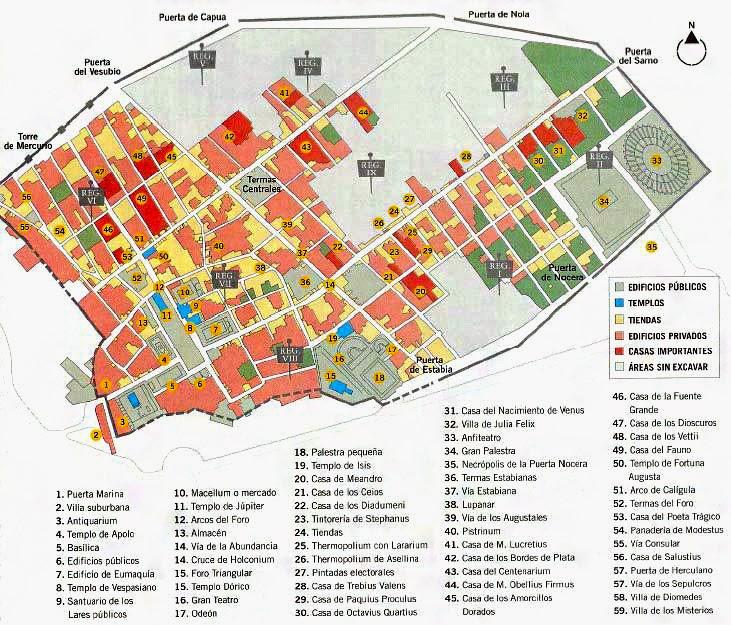 Pompei campania for Design della mappa di casa