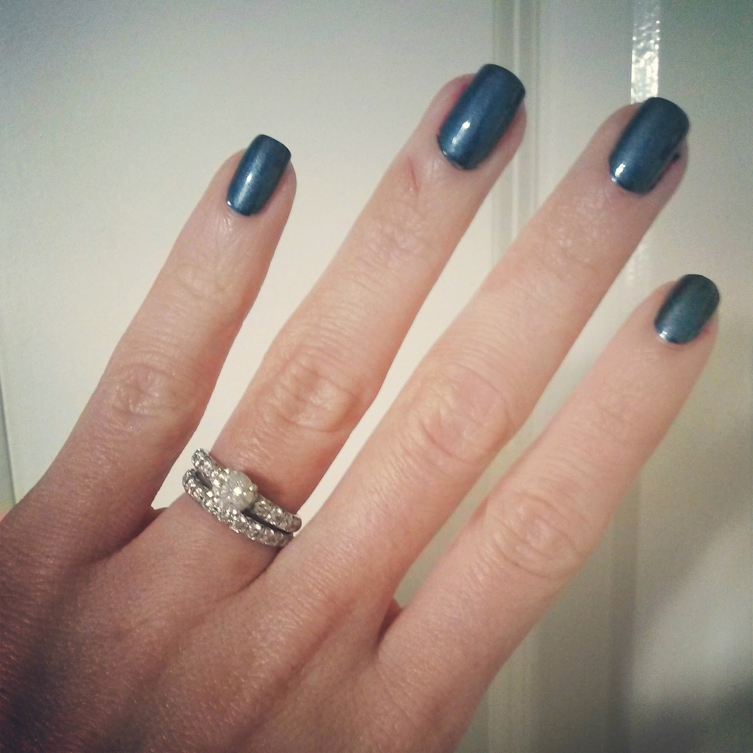 Dark Grey Green Nail Polish Trend 2014