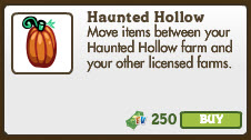 FarmVille Haunted Hollow Shipping License Market Info