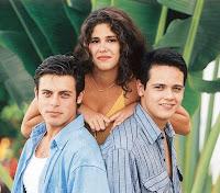 Protagonistas da primeira temporada de Malhação em 1995. Produção da Rede Globo.