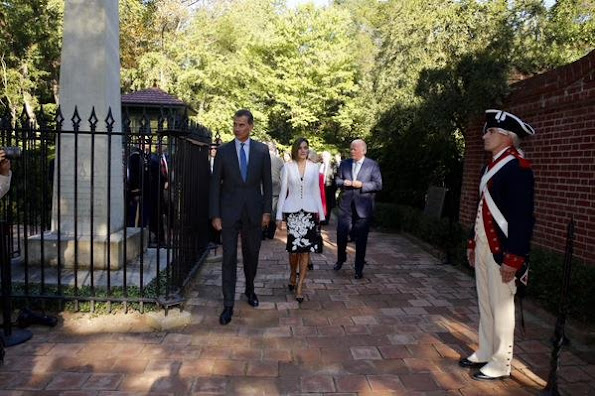 King Felipe VI of Spain and Queen Letizia of Spain visits the first President of the US George Washington's Mount Vernon