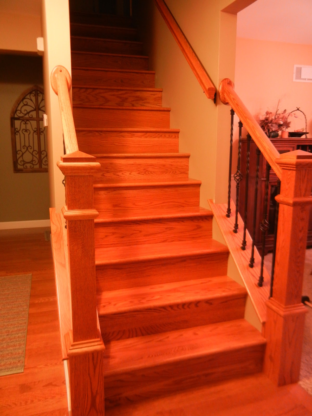 flooring gunstock hardwood oak home pages floors red in a new gaylord