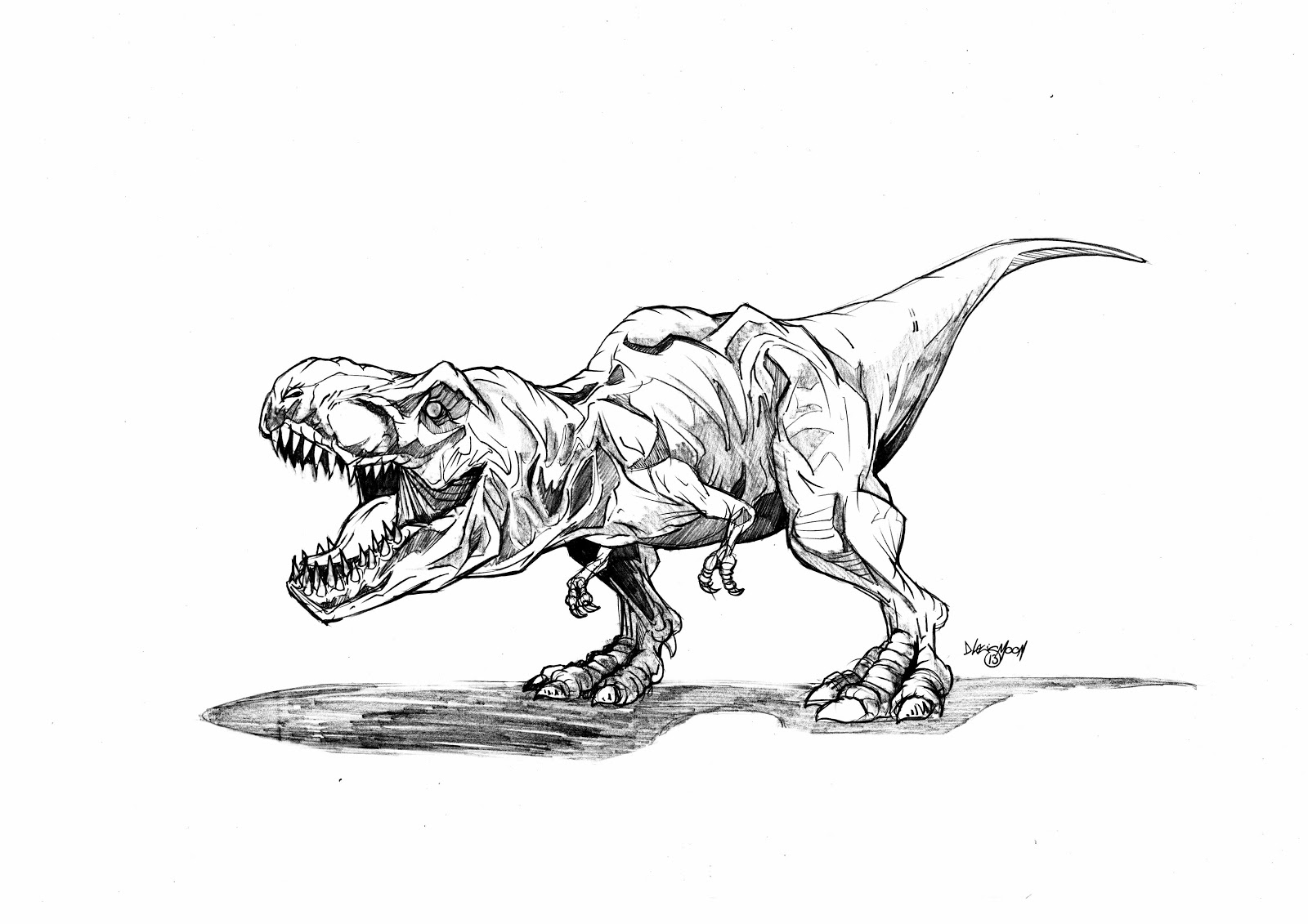 Coloring Pages For T Rex : David moon illustration design