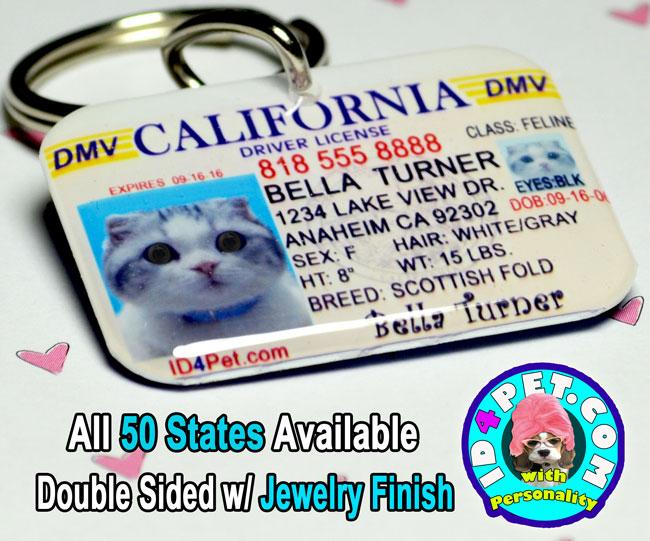 id4pet custom pet id tag dog driver license