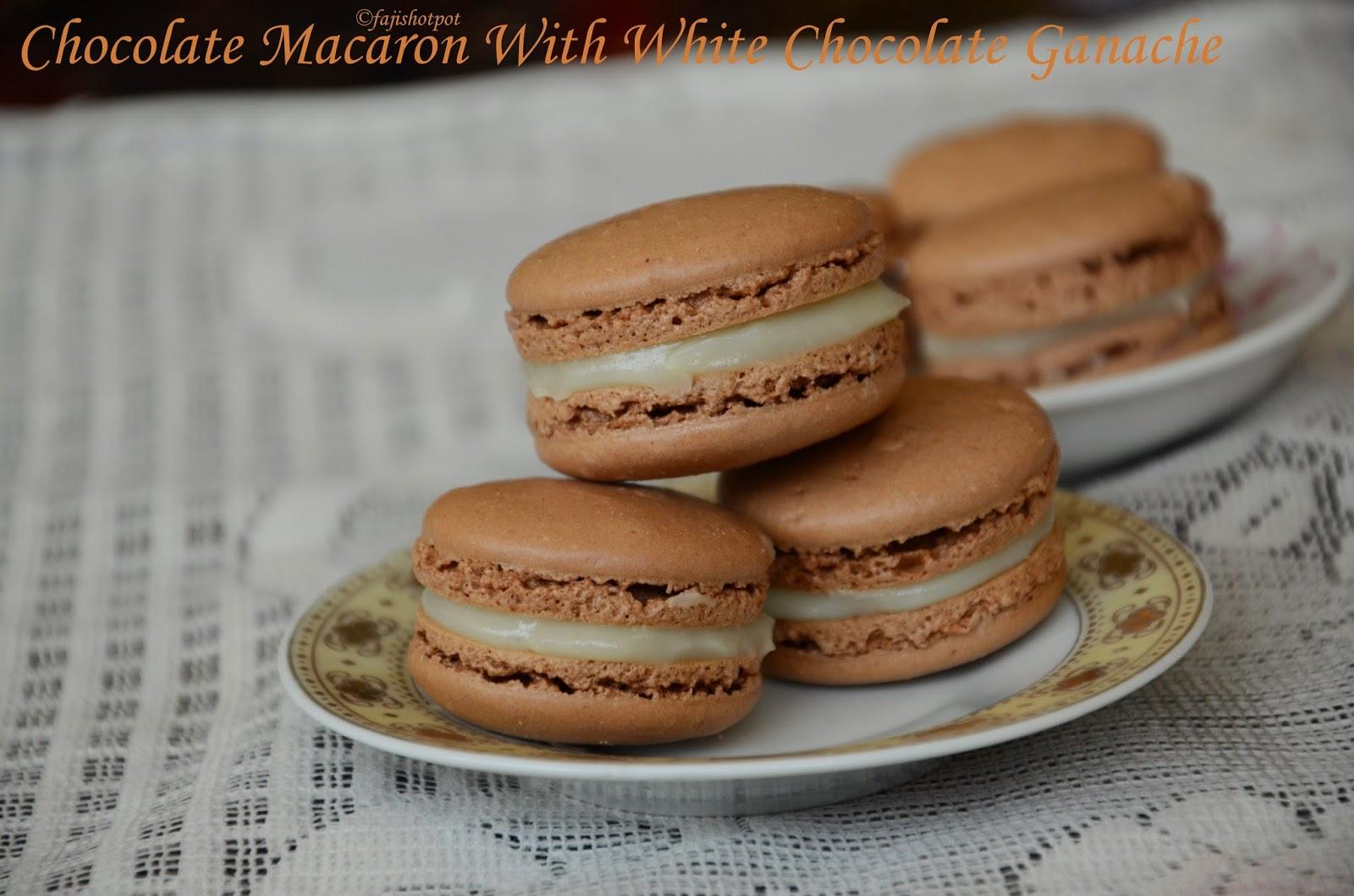 Faji's Hot Pot: Chocolate Macaron With White Chocolate Ganache