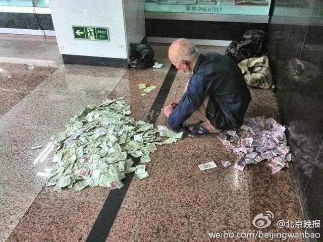 Chinese beggars make good money