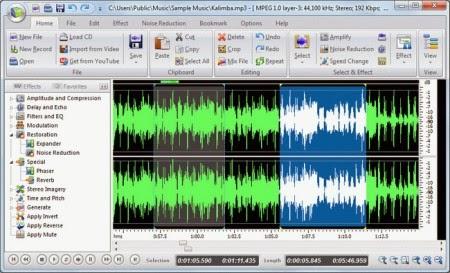 Free Audio Editor Deluxe 8.6.1