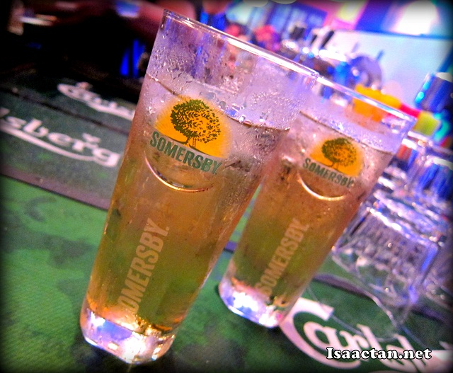The refreshing Somersby Apple Cider which was both sweet and refreshing