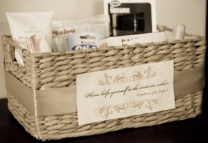 Wedding Planning Insight Bathroom Amenities Baskets
