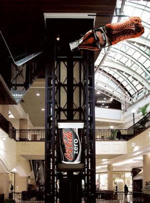 Publicidad Creativa, ascensores, Coca Cola Zero
