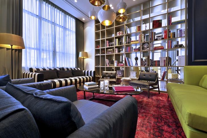 Lobby furniture in Hotel Indigo in Tel Aviv