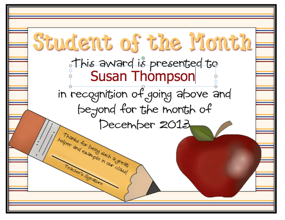 free student of the month certificate templates 28