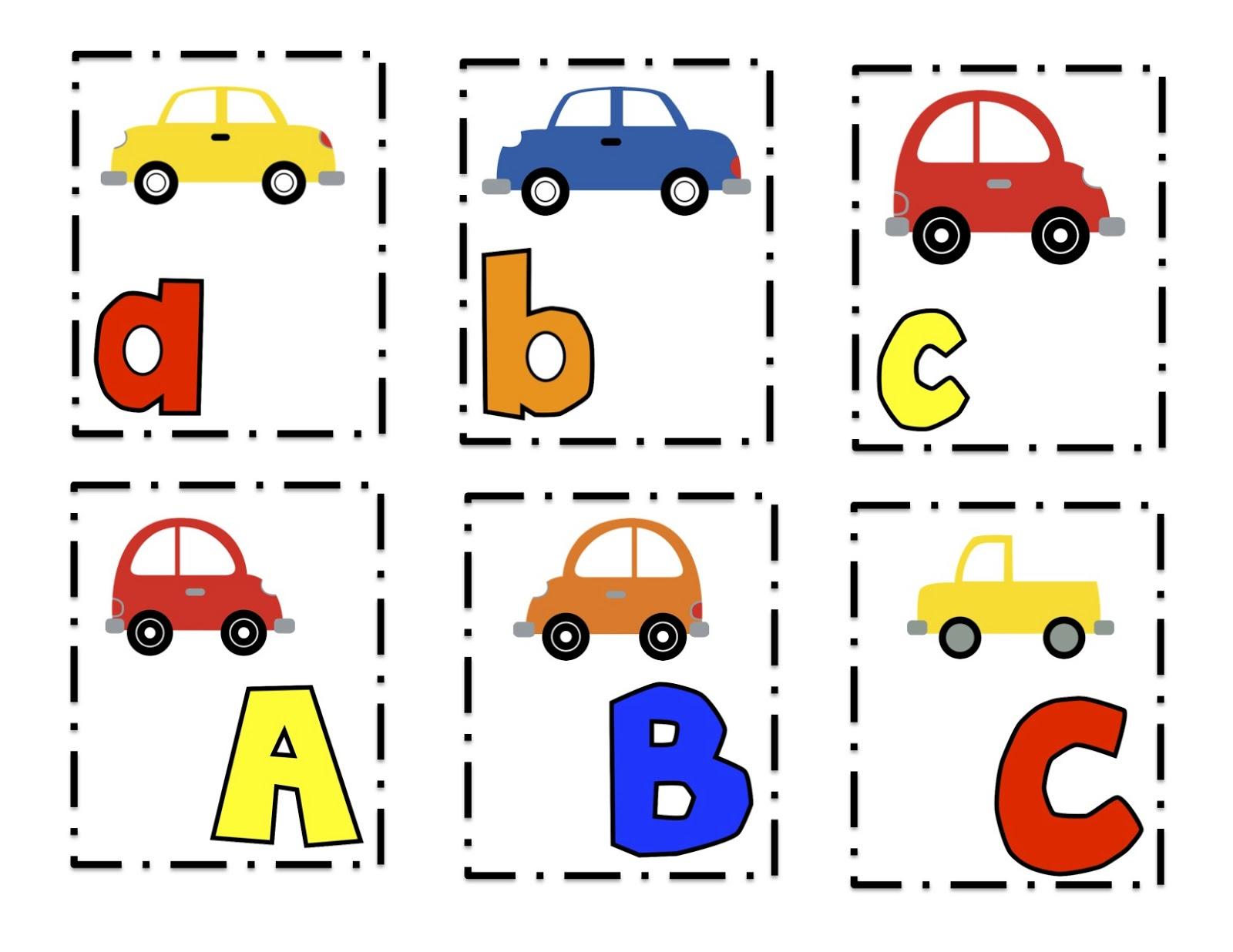Preschool Printables: Cars Alphabet Cards