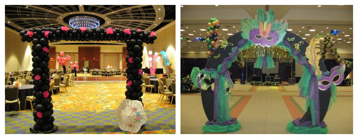 Raining blossoms prom dresses tips for decorating an for How can prom venues be decorated