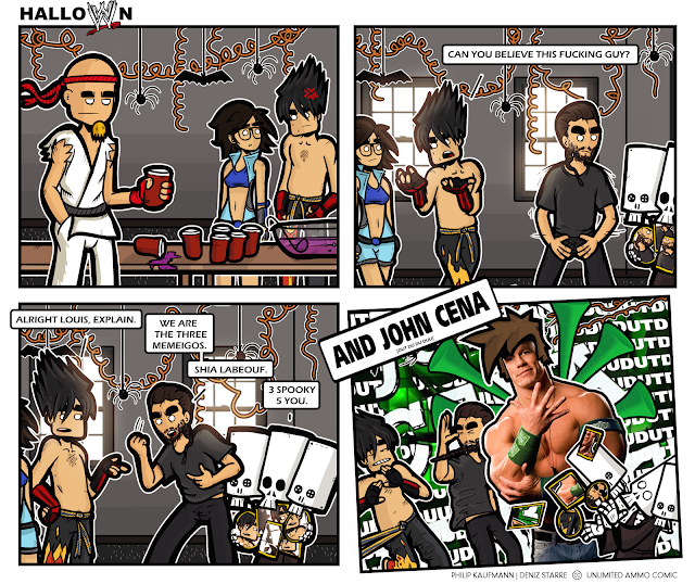 John Cena, Shia labeouf, Jin and Asuka Kazama walk into a bar.....and Ryu.
