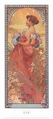 L'été par Alfons Mucha, peintre, affichiste, graphiste ... tchèque.