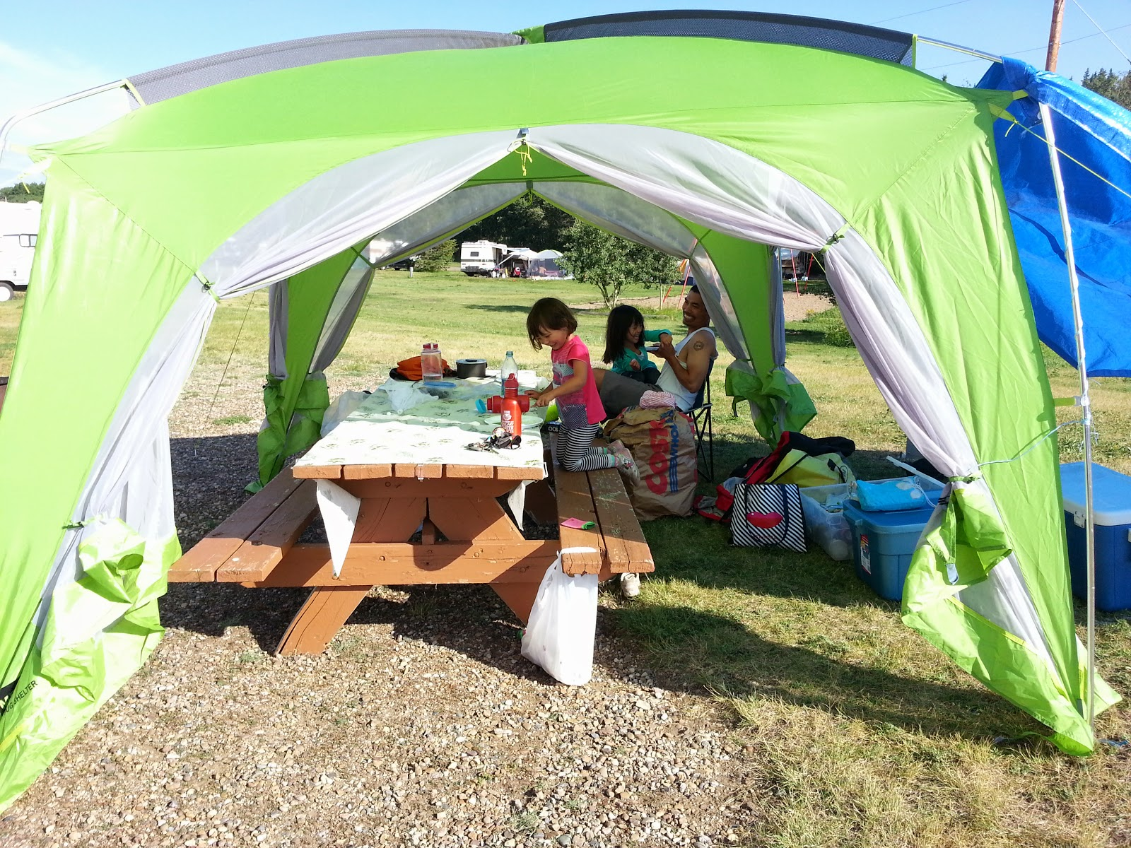 The roomy MEC Hootenanny Bug Screen Shelter & 5 Pieces of Gear That Make Camping Better - Play Outside Guide