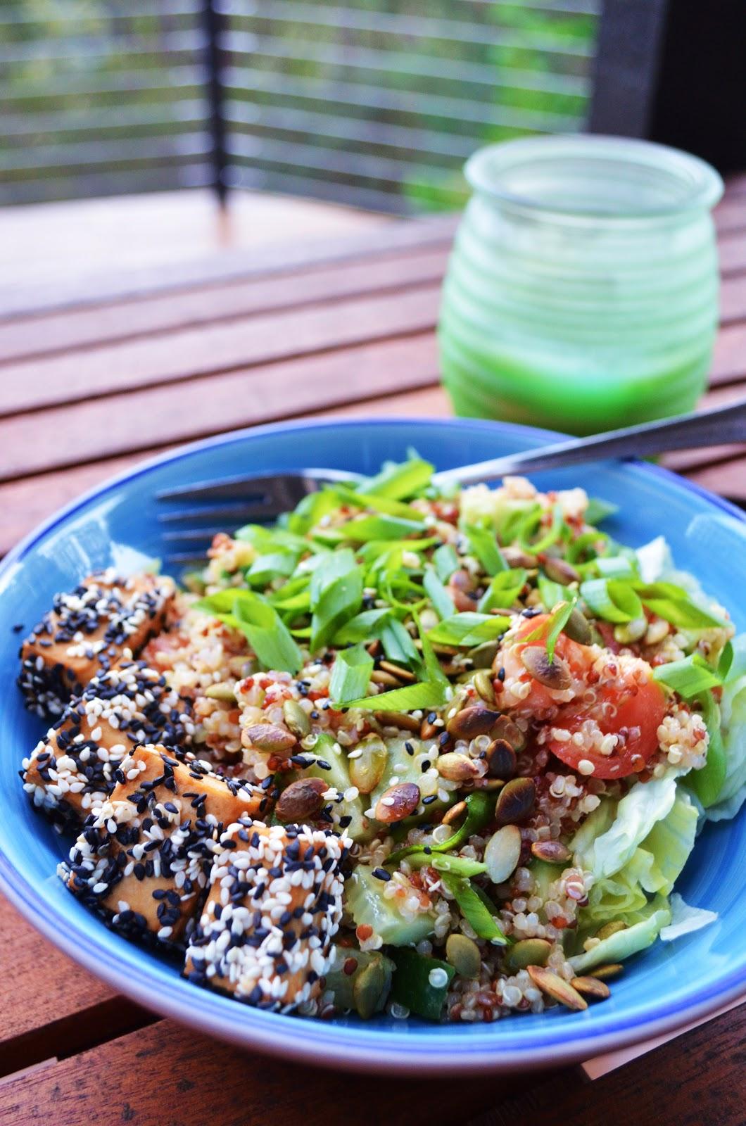 Gormandize: Sesame Tofu Quinoa Salad