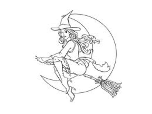 Halloween Fairy Coloring Pages