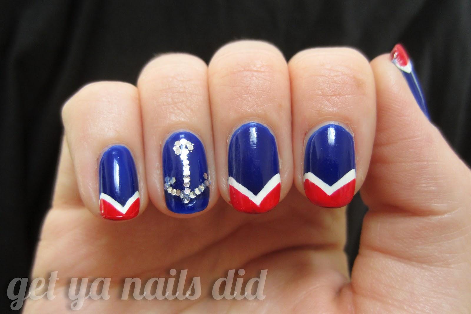 Nautical Themed Nail Art Nailarts Ideas