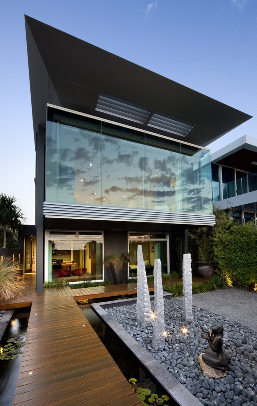 Modern facade and landscape design