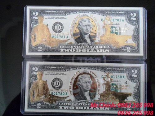 2 USD Mạ Vàng Hải Quân