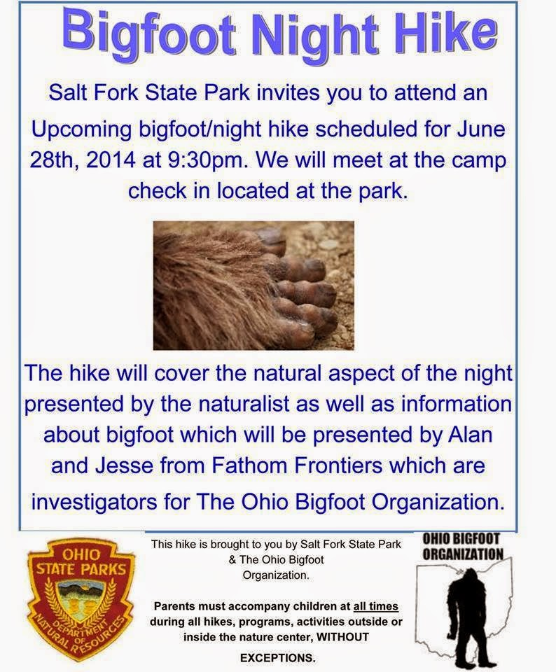 Bigfoot Hike Salt Fork