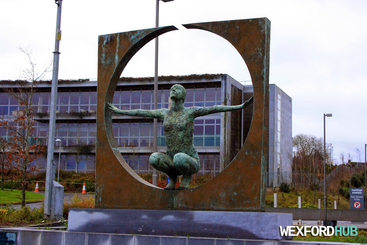 Solstice sculpture outside of the Wexford County Council
