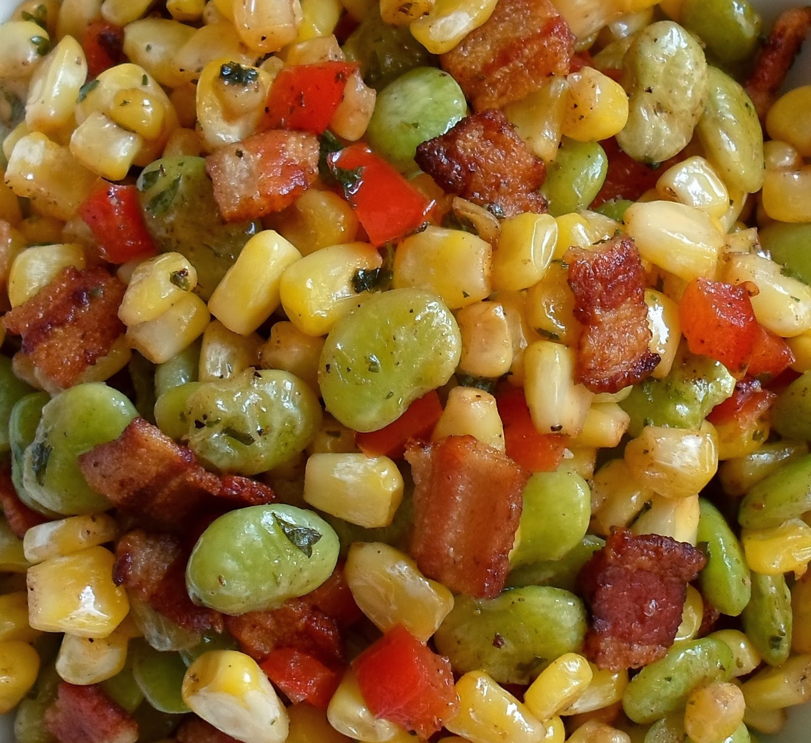how to make succotash with bacon