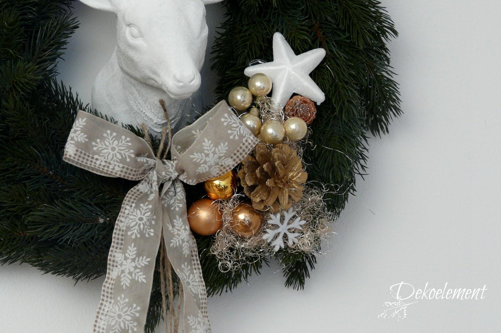 dekoelement blogreihe 6 weihnachtlicher t rkranz. Black Bedroom Furniture Sets. Home Design Ideas