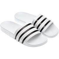 chanclas adidas clásicas de rayas negras blancas playa piscina de baño