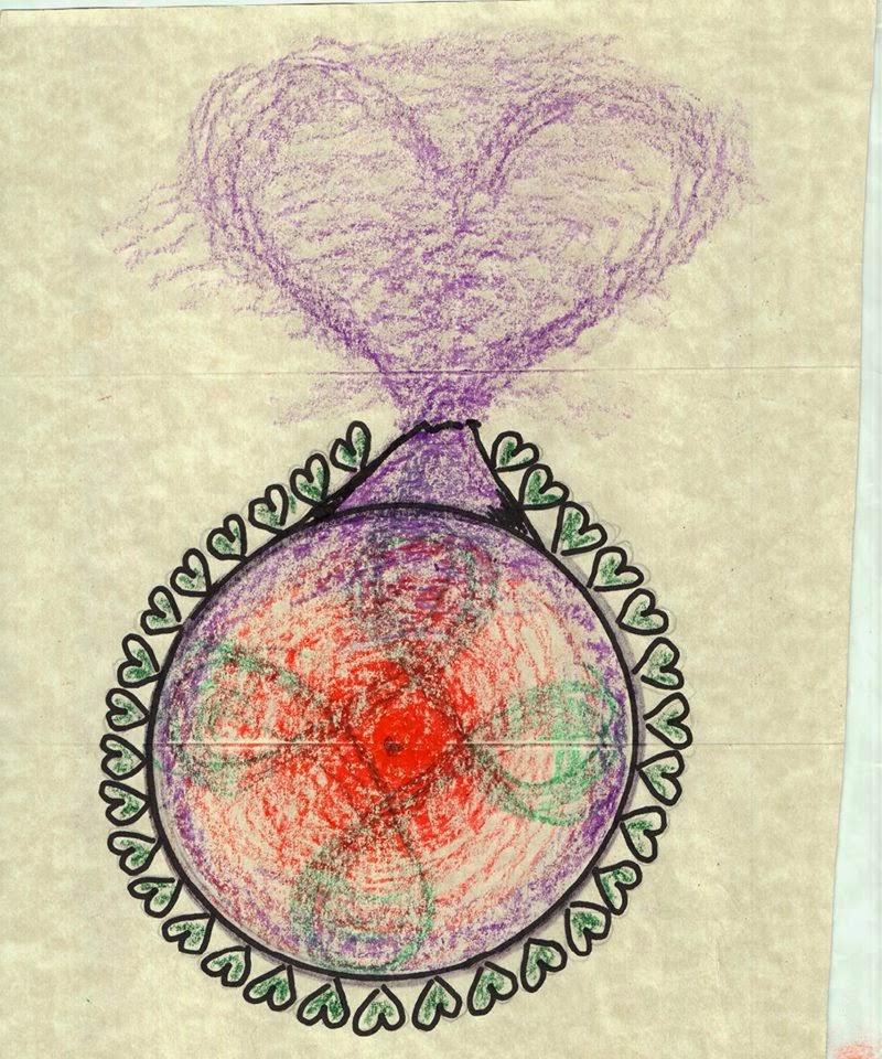 circulo de corazones