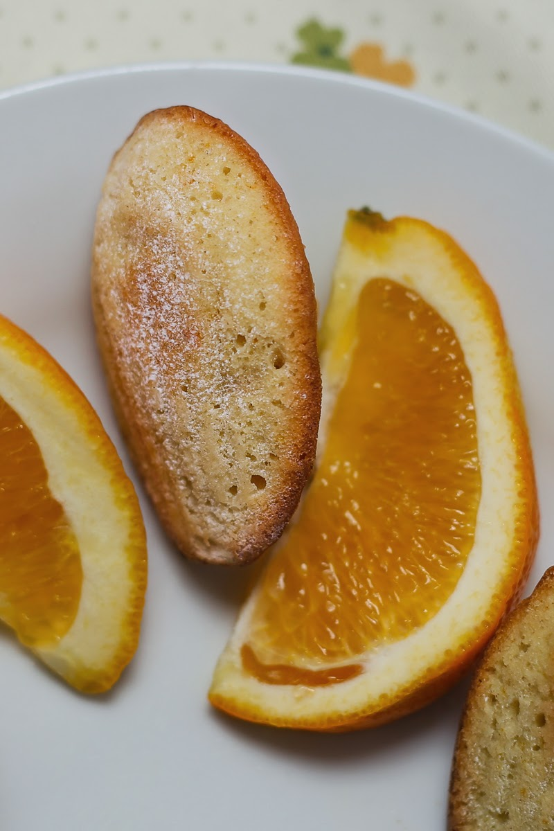 Orange and Cardamom Madeleines