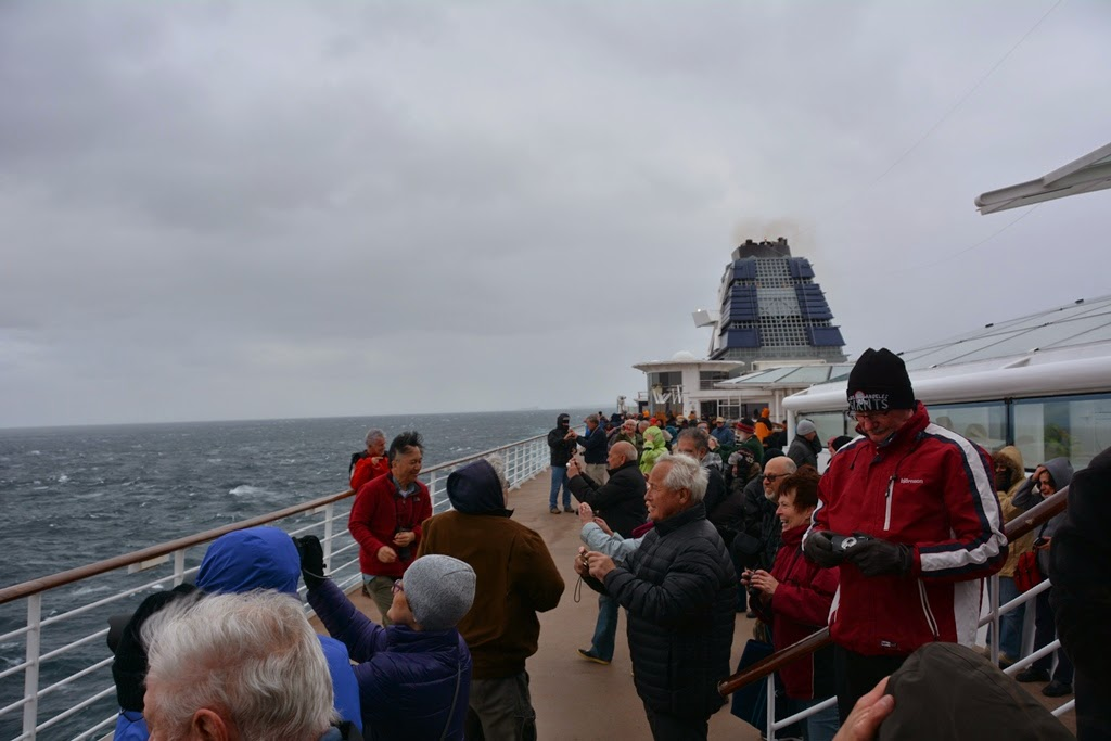 Cruising Cape Horn taking pictures on the open deck