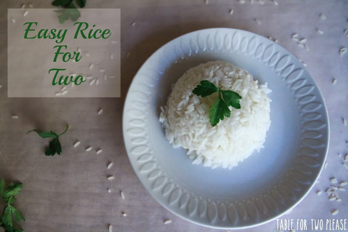 Easy Rice for Two | Table for Two, please?