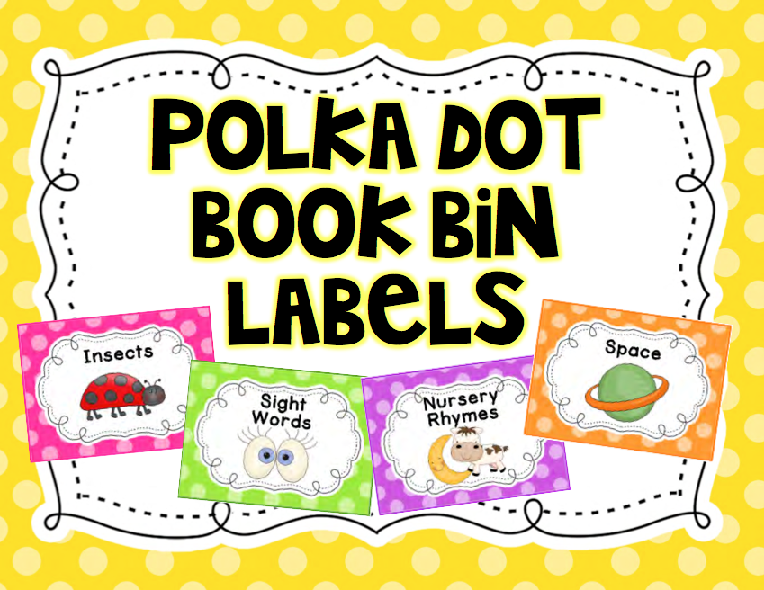 http://www.teacherspayteachers.com/Product/Polka-Dot-Classroom-Library-Labels-1256852