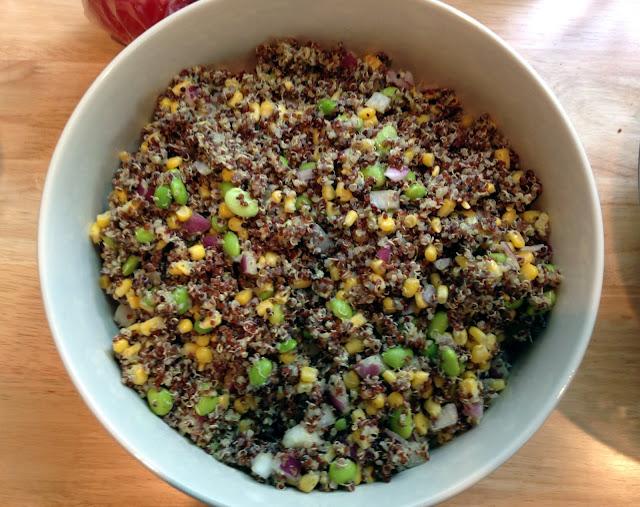 summer quinoa salad with edamame