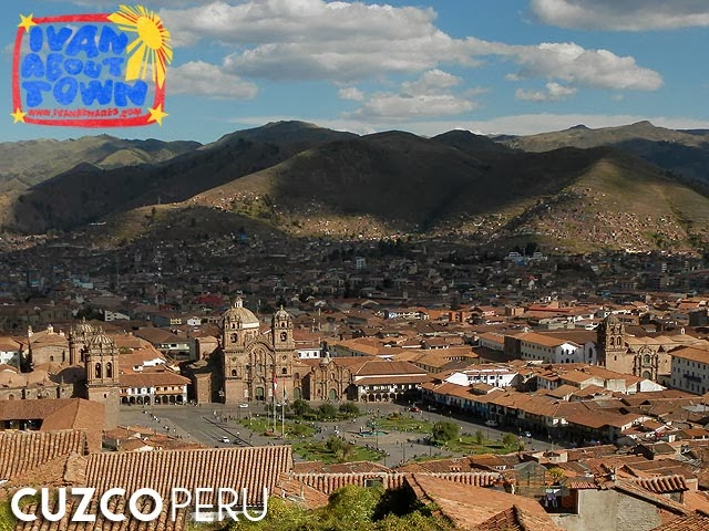 Cuzco's Plaza de Armas from the Iglesia de San Cristobal