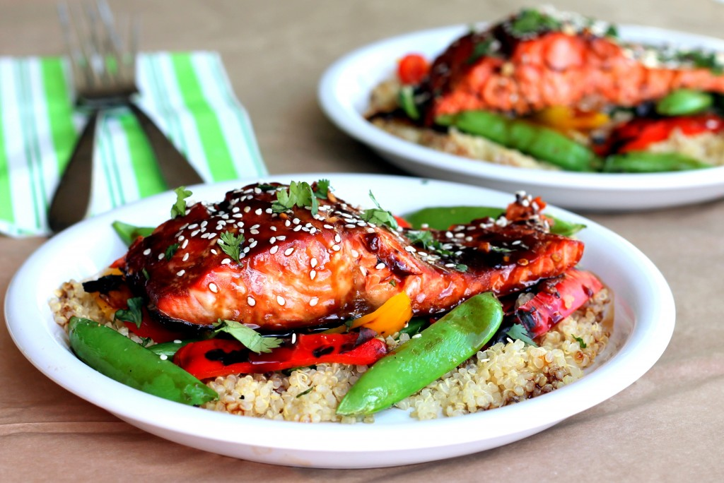 ... Recipes Online: Sesame Ginger Sweet Teriyaki Salmon with Garlic Quinoa