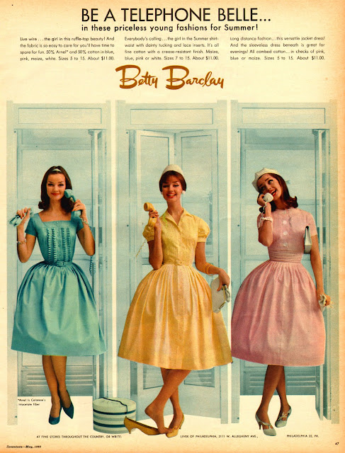 Betty Barclay vintage dress ad 1950s Just Peachy, Darling
