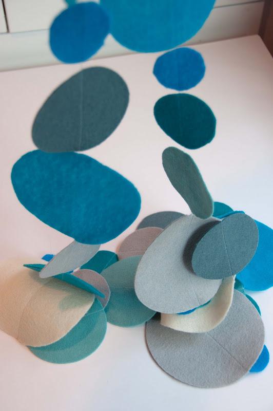 Aesthetic nest sewing polka dot felt garland tutorial for Polka dot felt fabric