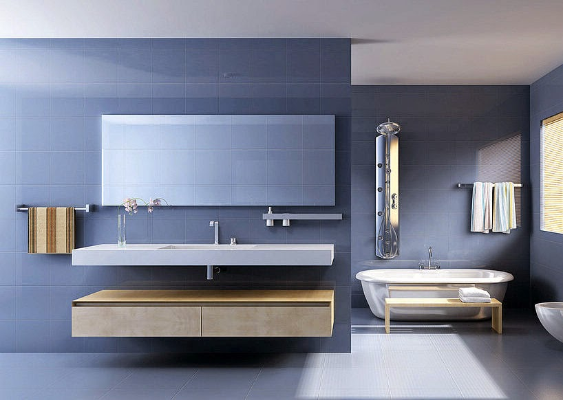 meuble salle de bain 2 vasques bleu - Meuble Salle De Bain Bleu