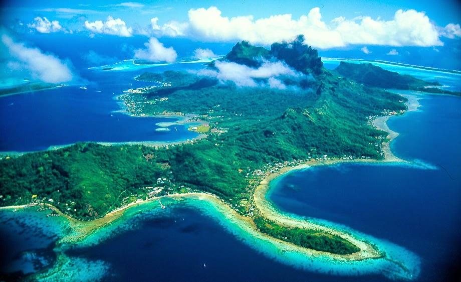 Moorea Island Ariel view