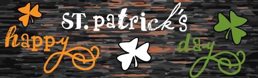 ilustración texto St. Patrick (100% handmade with ♥)