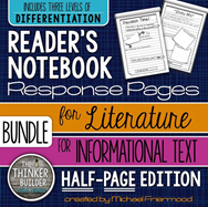 https://www.teacherspayteachers.com/Product/BUNDLE-Readers-Notebook-Response-Pages-HALF-PAGE-SET-1065128