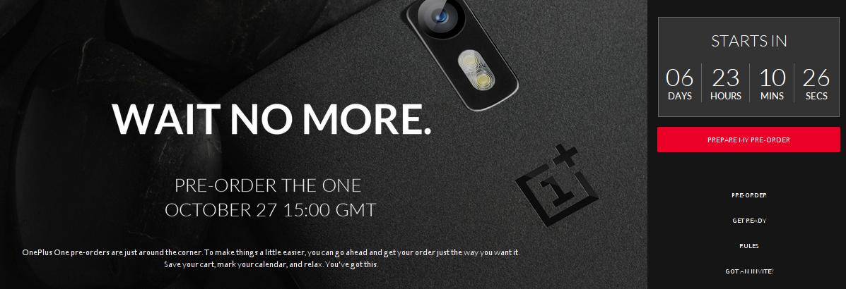 Reserva el OnePlus One el 27 de Octubre, comprar oneplus one, invitacion oneplus one