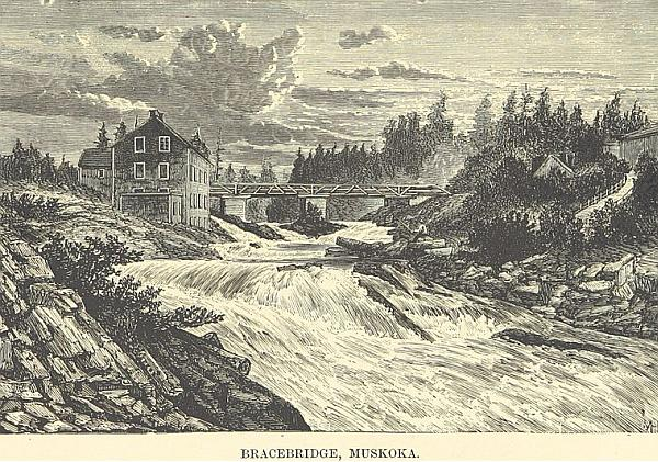 A public domain image of Bracebridge in the late 1800s; from wikipedia.
