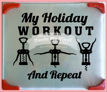 My Holiday Workout Cutting Board