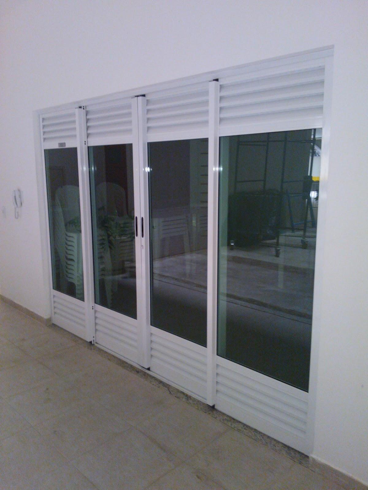 #5A6071 Por Afrânio Faria: Porta de alumínio linha suprema com pintura  1086 Portas E Janelas De Aluminio Linha Suprema