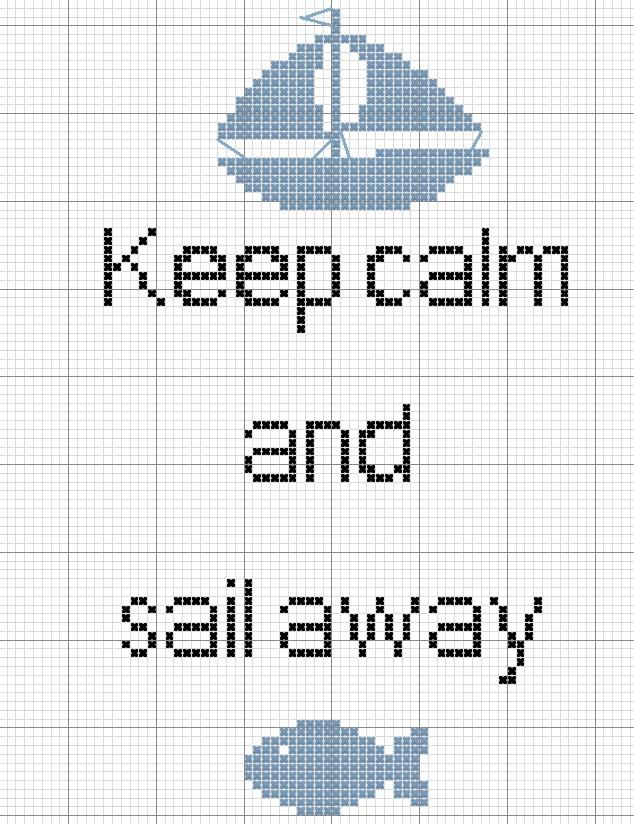 Schema punto croce keep calm